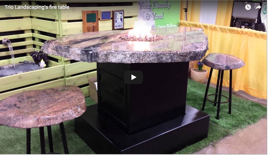 Check out our fire tables at the St Paul Home & Patio Show